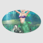 Magical Mermaid Oval Sticker