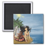Mermaid on Beach Magnet