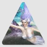 Mermaid Swimming Triangle Sticker