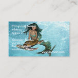 Mermaid with Sea Turtle Business Cards
