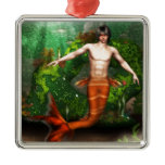 Merman Swimming Ornament