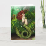 Red Haired Mermaid Greeting Card