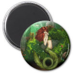 Red Haired Mermaid Magnet