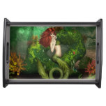 Red Haired Mermaid Serving Tray