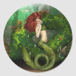 Red Haired Mermaid Stickers