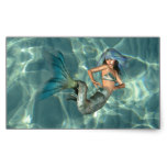 Underwater Mermaid Rectangular Sticker