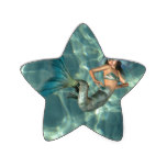 Underwater Mermaid Star Sticker