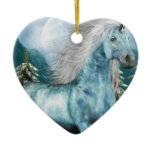 Unicorn in Moonlight Ornament