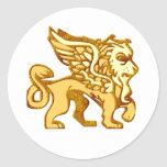 Winged Lion Classic Round Sticker