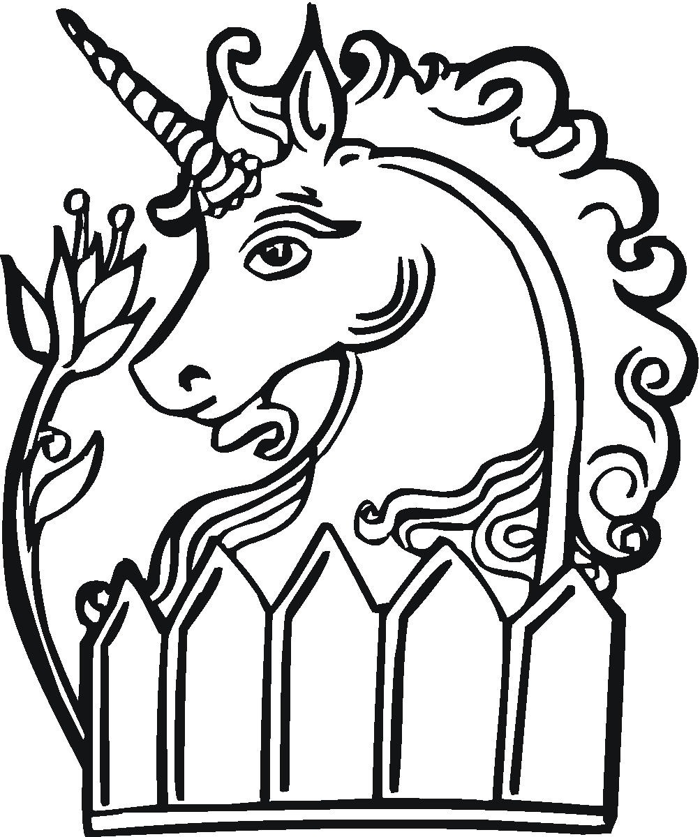 free coloring pages of angel unicorn