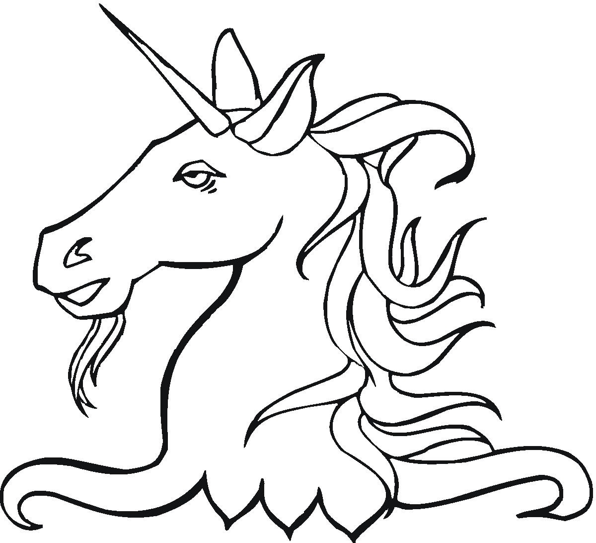 free coloring pages of unicorn fairy